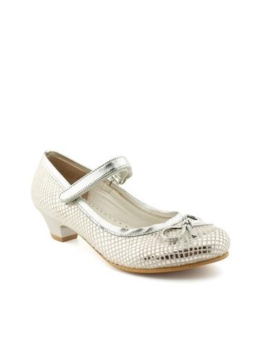 Cicibebe Crocodil Kız Çocuk Abiye Gümüş